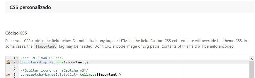 CSS Personalizado en las opciones de Avada