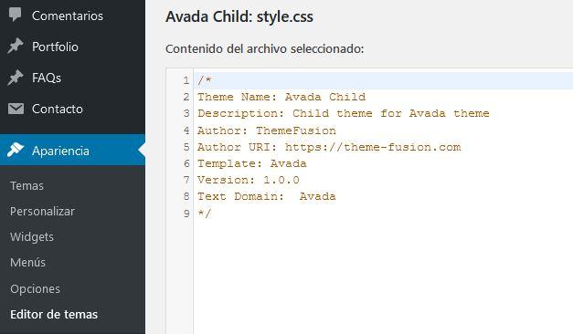 CSS personalizado desde el fichero Styles.css