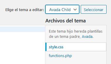 Editar el fichero style.css