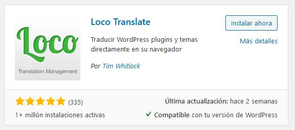 Loco Translate para traducir Avada
