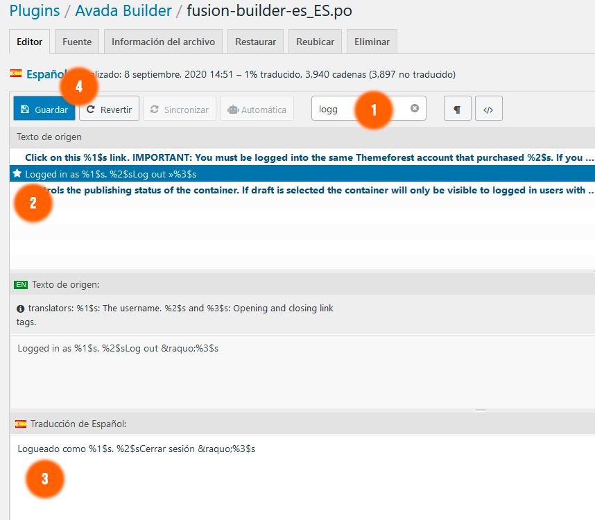 Cómo traducir Avada con Loco Translate