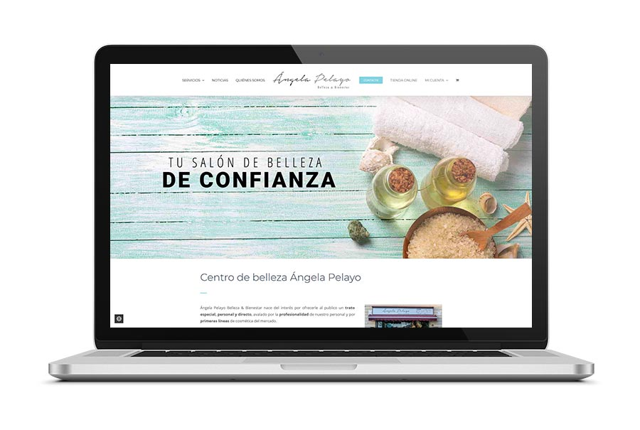 Diseño web para Ángela Pelayo