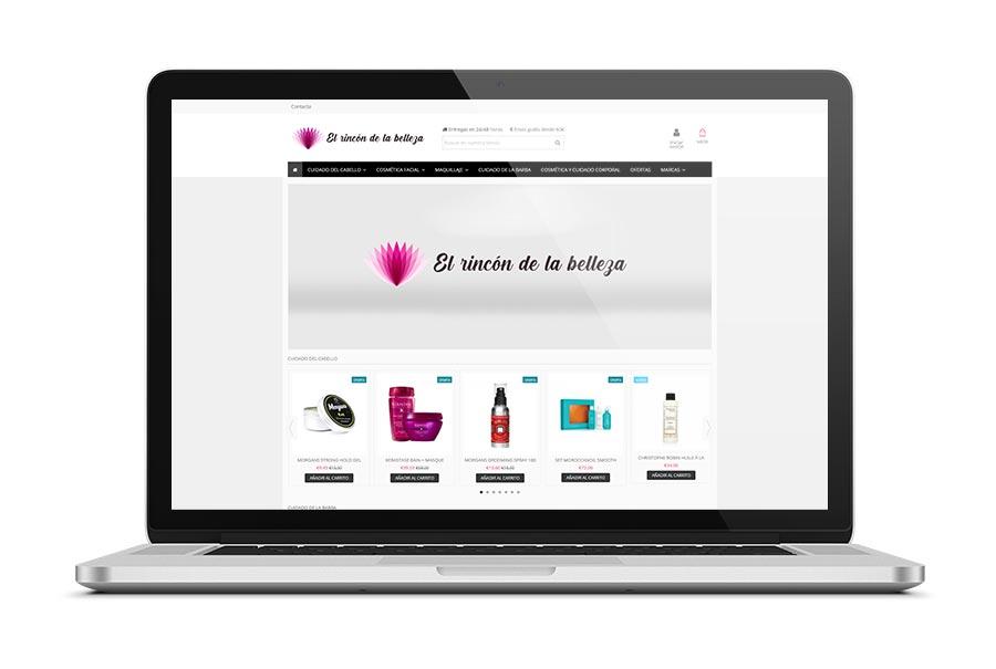 Diseño web para El Rincón de la Belleza