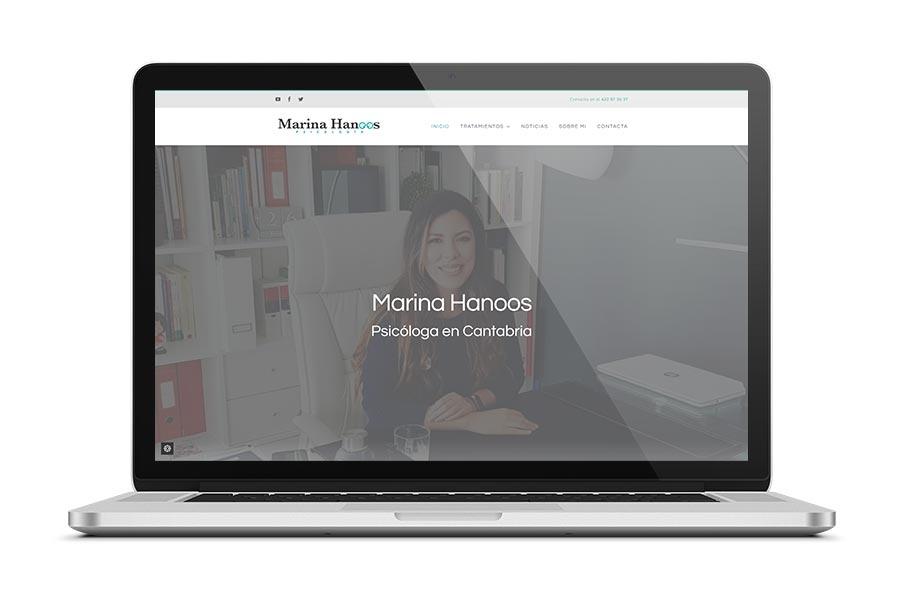Diseño web para Marina Hanoos