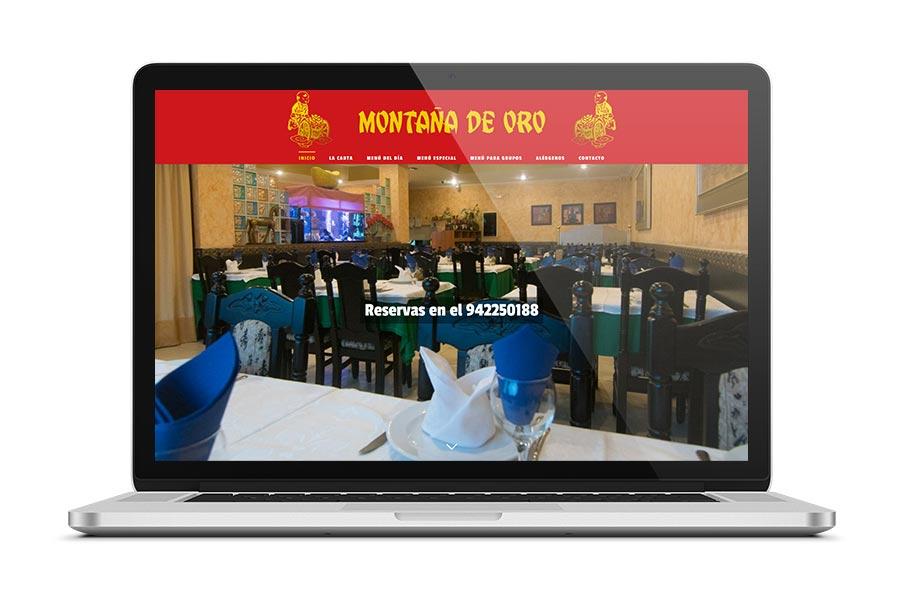 Diseño web para el restaurante Montaña de Oro