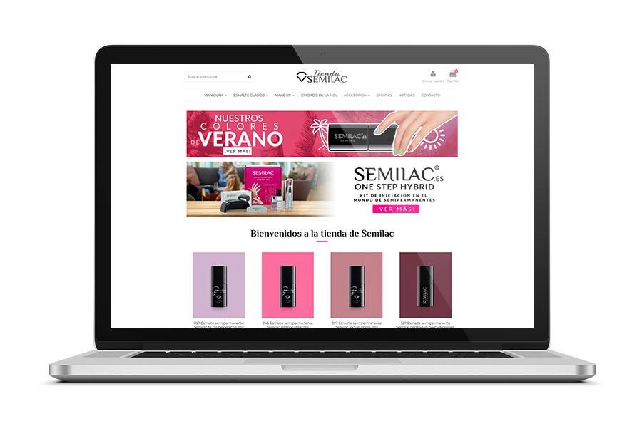 Diseño web para Tienda Semilac