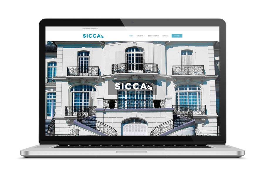 Diseño web para Sicca Cantabria