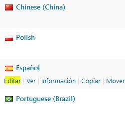 Editar idioma en Loco Translate