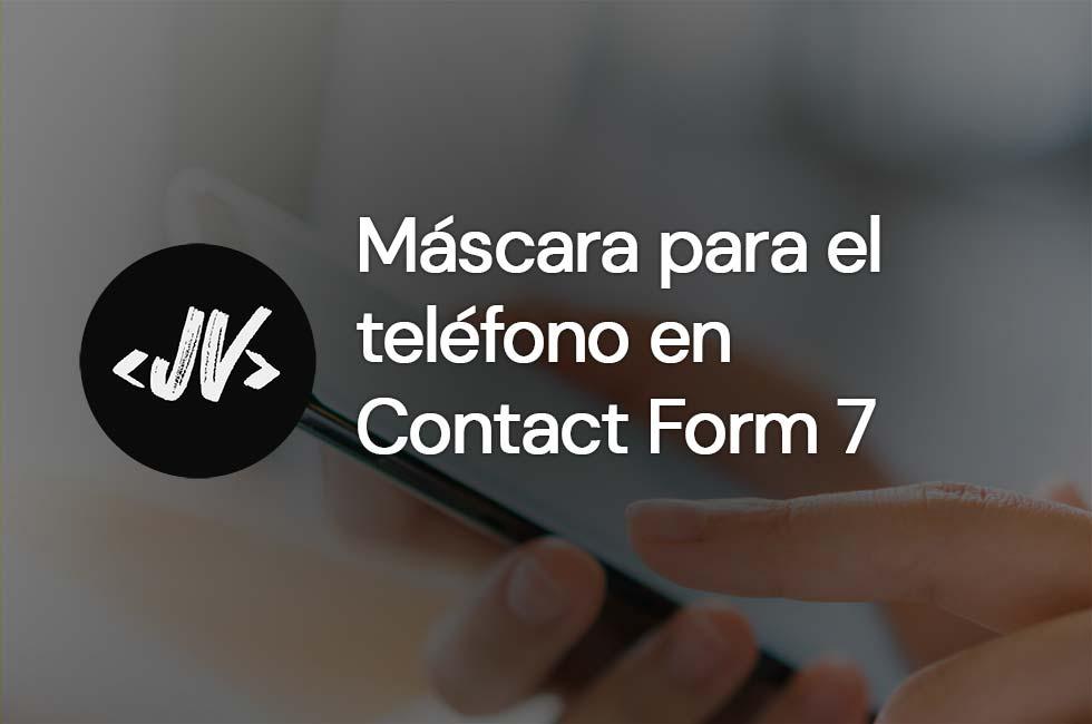 Máscara para el teléfono Contact Form 7