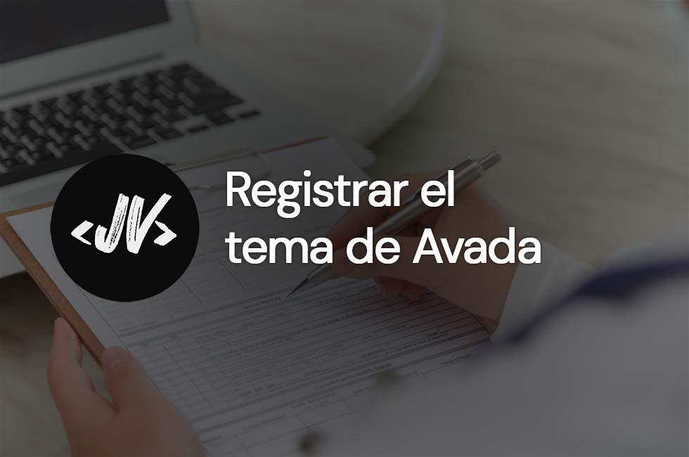 Cómo registrar el tema de Avada