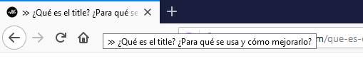 Title en una pestaña del navegador
