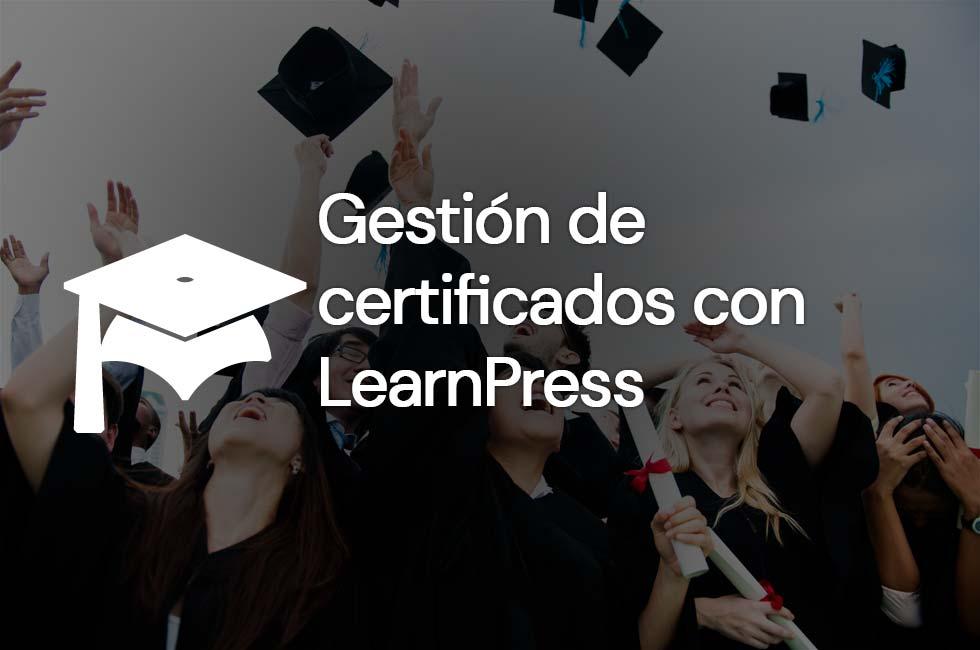Gestión de certificados con LearnPress