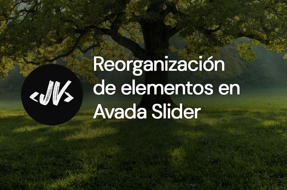 Reorganización de elementos en Avada Slider