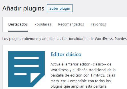 Subir plugin manualmente a WordPress