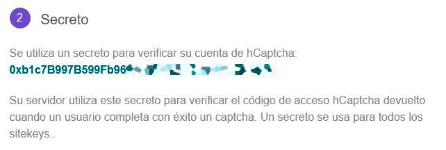 Secreto hCaptcha