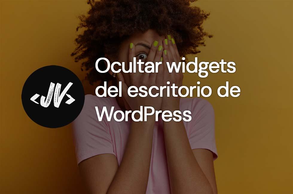 Ocultar widgets del escritorio de WordPress