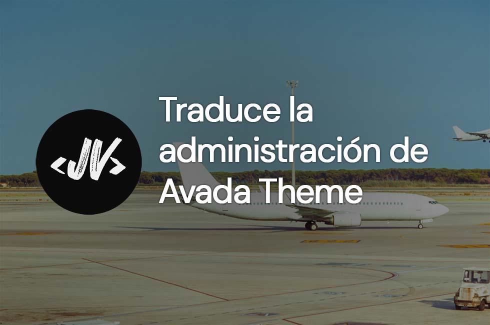Cómo traducir la administración de Avada Theme